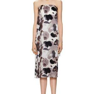 Helmut Lang strapless silk dress, size 0
